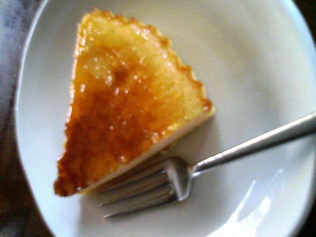 チーズケーキを焼きました!