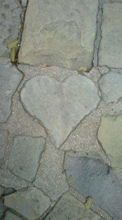 グラバー園 ハートの石