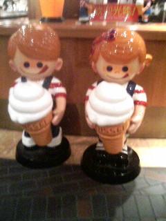 ソフトクリーム人形